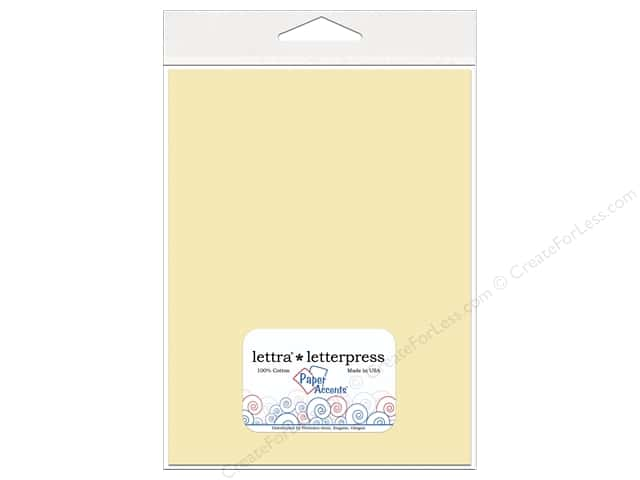 8 1/2 x 11 in. Lettra Letterpress by Paper Accents 110lb. 10 pc. Natural