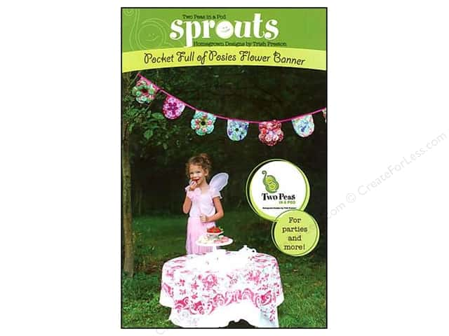 Two Peas In a Pod Sprouts Pocket Full Of Posies Flower Banner Pattern