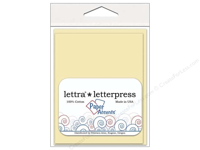 4 1/4 x 5 1/2 in. Lettra Letterpress Card & Envelopes by Paper Accents 10 pc. Flat Natural