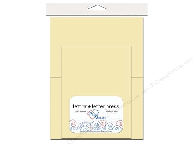 5 x 7 in. Lettra Letterpress Card & Envelopes by Paper Accents 10 pc. Natural