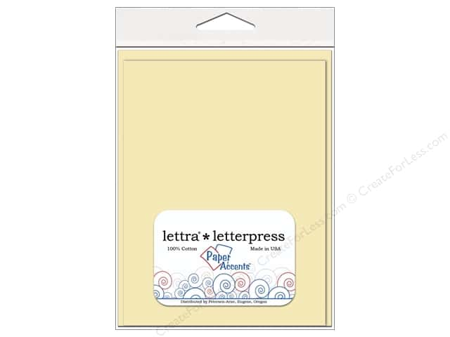 5 x 7 in. Lettra Letterpress Card & Envelopes by Paper Accents 10pc. Flat Natural