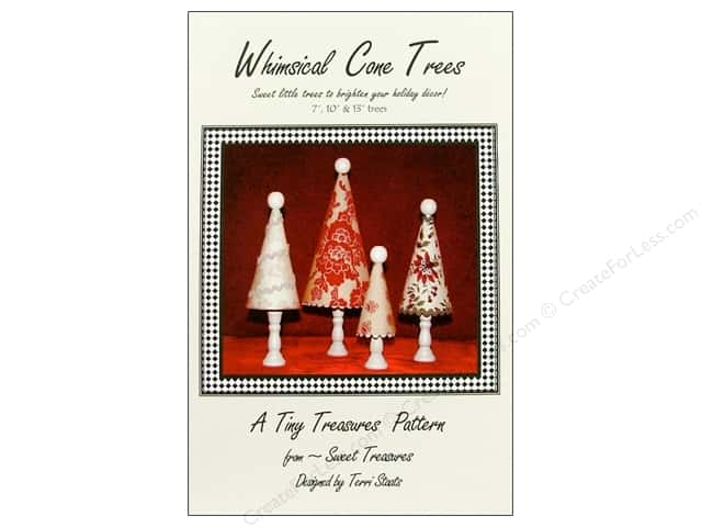 Sweet Treasures Whimsical Cone Trees Pattern
