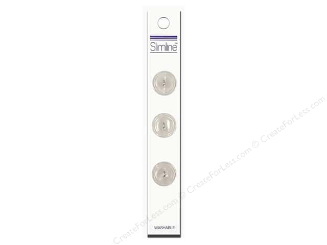 Slimline 2 Hole Buttons 3/4 in. White 3pc
