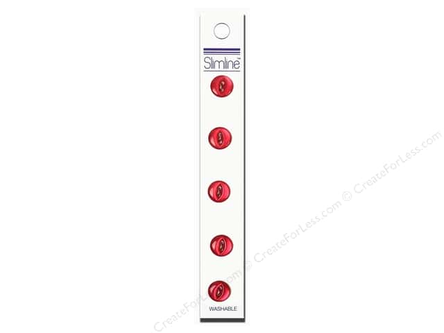 Slimline 2 Hole Buttons 7/16 in. Wine 5pc