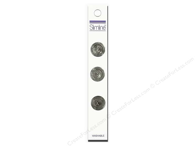 Slimline 2 Hole Buttons 3/4 in. Grey 3pc