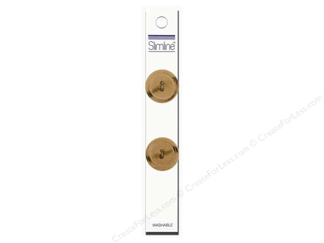 Slimline 2 Hole Buttons 7/8 in. Wood 2pc