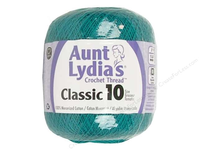 Aunt Lydia's Classic Cotton Crochet Thread Size 10 350 yd. Peacock
