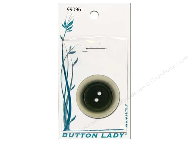 JHB Button Lady Buttons 1 in. Black #99096 1 pc.