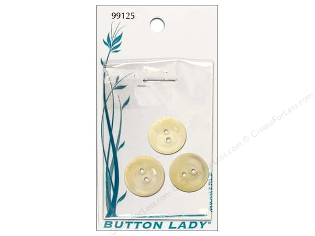 JHB Button Lady Buttons 5/8 in. Clear #99125 3 pc.