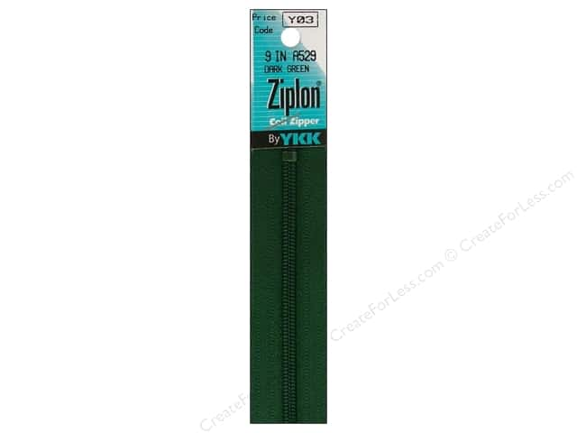 YKK Ziplon Coil Zipper 9 in. Dark Green