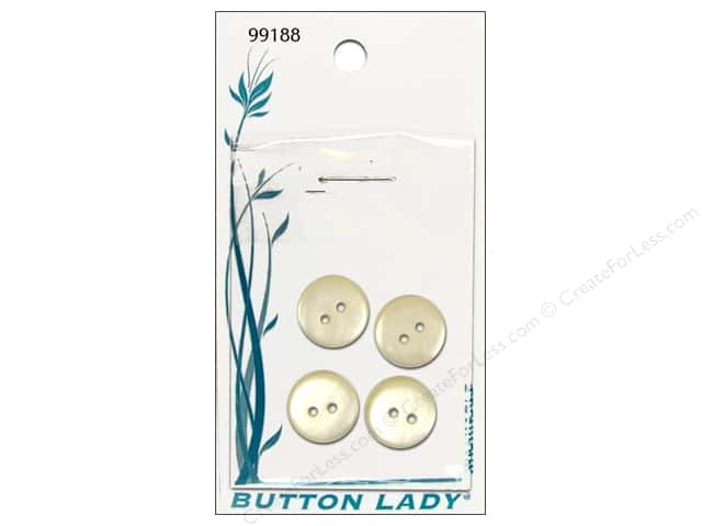 JHB Button Lady Buttons 1/2 in. Pearlized Cream #99188 4 pc.