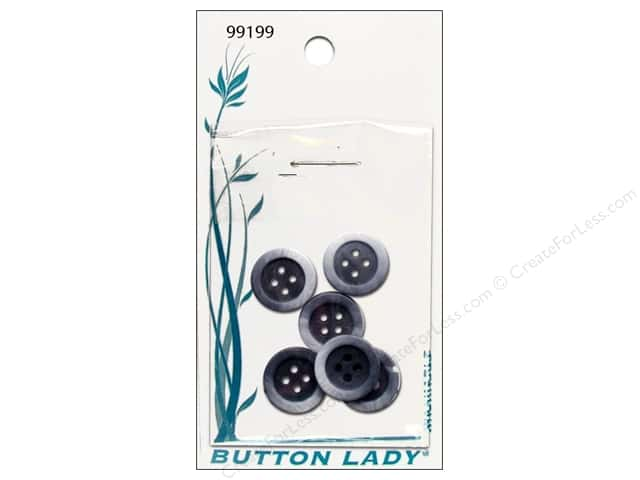 JHB Button Lady Buttons 5/8 in. Blue #99199 6 pc.