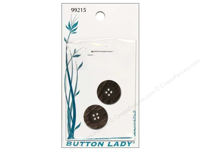 JHB Button Lady Buttons 5/8 in. Dark Brown #99215 2 pc.