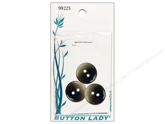 JHB Button Lady Buttons 5/8 in. Gunmetal #99225 3 pc.