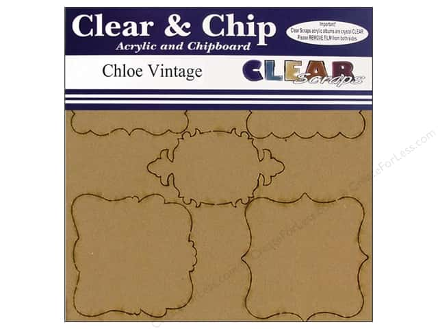 Clear Scraps Clear N Chip Mix Pack Chloe Vintage Frames
