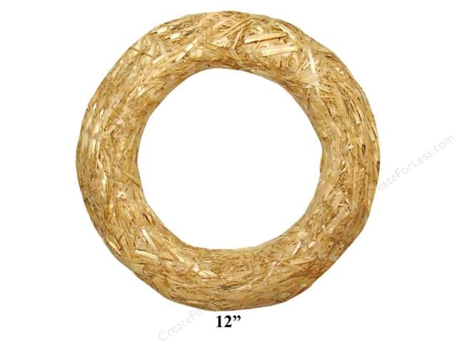 FloraCraft Straw Wreath 12 in. Clear Wrap
