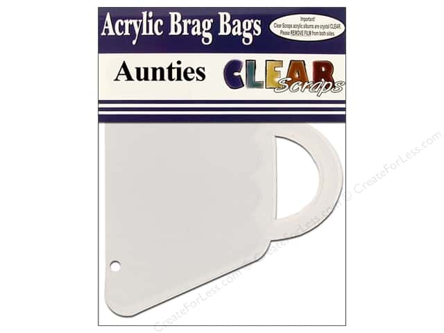 Clear Scraps Clear Brag Bag Album Aunties