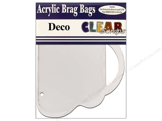 Clear Scraps Clear Brag Bag Album Deco
