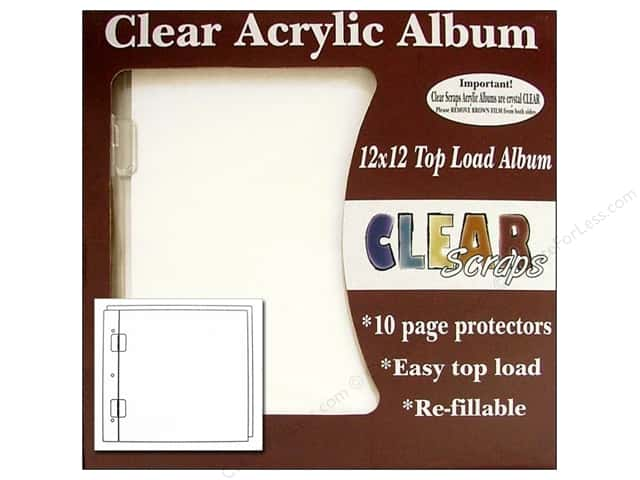 Clear Scraps Acrylic Top Load Album 12 x 12 in. Regular