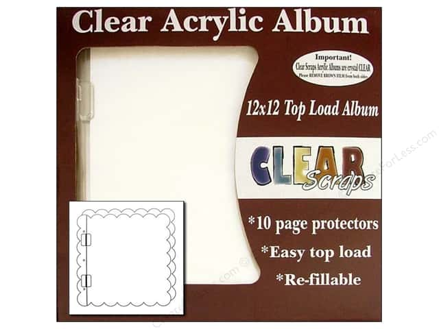 Clear Scraps Acrylic Top Load Album 12 x 12 in. Scallop