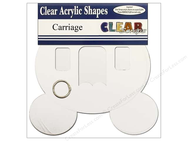 Clear Scraps Clear Album 9 x 8 1/2 in. Carriage