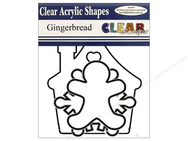 Clear Scraps Clear Banners 7 pc. Gingerbread