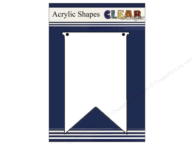 Clear Scraps Clear Banners 5 pc. Small Pennants