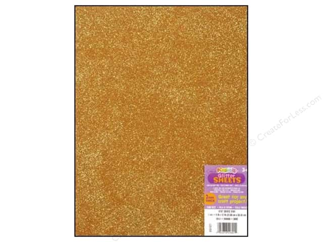 Darice Foamies Foam Sheet 9 x 12 in. 2 mm. Glitter Gold