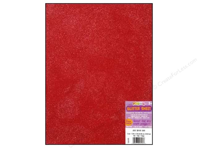 Foamies Foam Sheet 9 x 12 in. 2 mm. Glitter Red