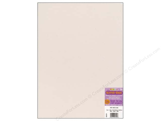Foamies Foam Sheet 9 x 12 in. 2 mm. Glitter White