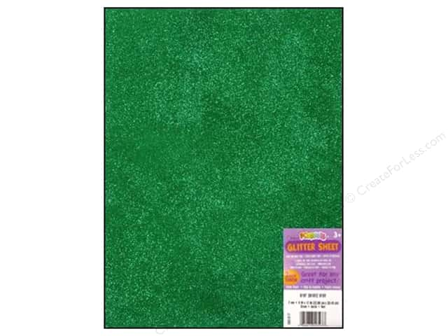 Foamies Foam Sheet 9 x 12 in. 2 mm. Glitter Green