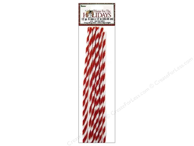 Chenille Stems by Darice 6 mm x 12 in. Candy Cane Twist 12 pc.
