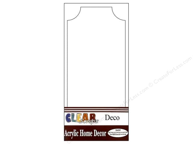 Clear Scraps Clear Plaque Deco