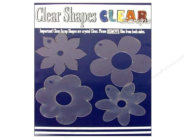 Clear Scraps Clear Shapes 4 pc. Flowers