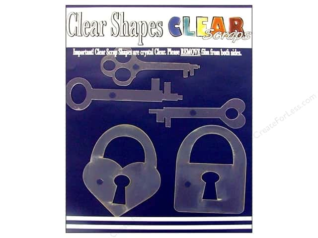 Clear Scraps Clear Shapes 5 pc. Keys & Locks