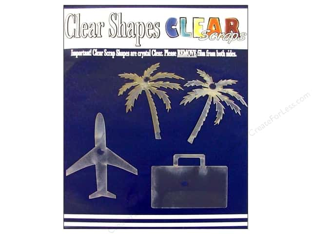 Clear Scraps Clear Shapes 4 pc. Vacation