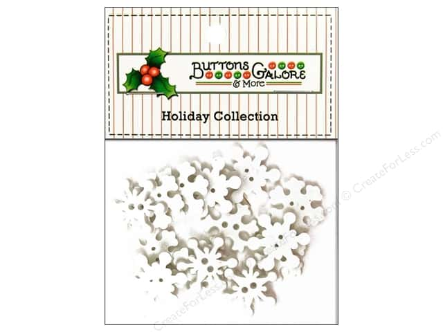 Buttons Galore Theme Button Holiday Snowflakes