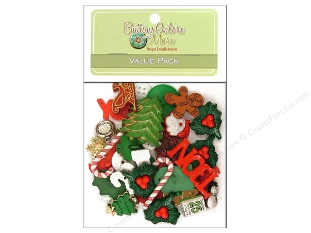 Buttons Galore Value Pack 50 pc. Holiday