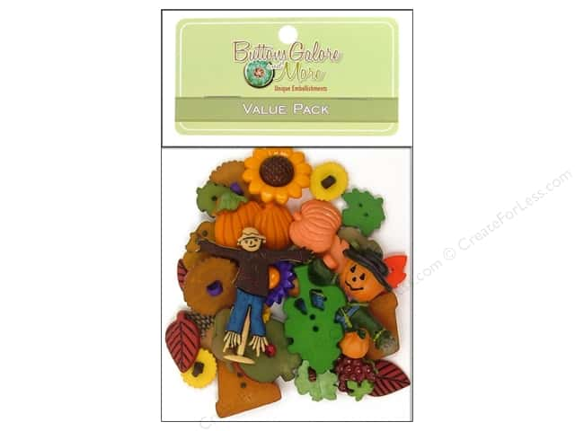 Buttons Galore Value Pack 50 pc. Autumn
