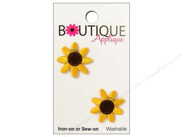 Blumenthal Boutique Applique 7/8 in. Yellow Sunflowers 2 pc.