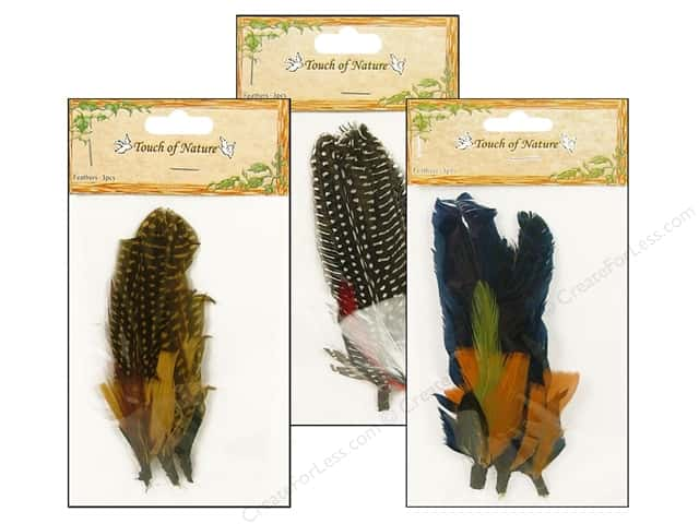 Midwest Design Guinea Feather Pick 3 pc. 5 1/2 in. Assorted