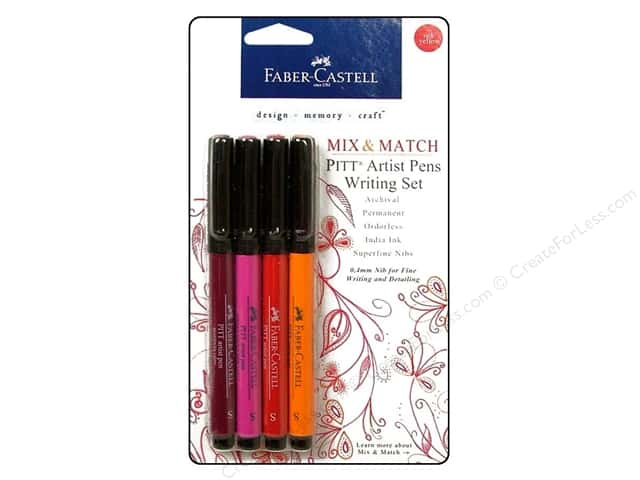 FaberCastell Pitt Artist Pen Mix & Match Writing Set Red/Yellow