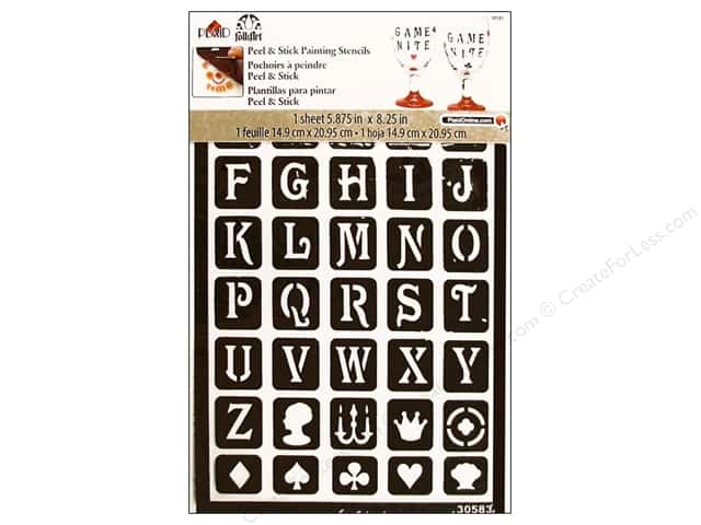 Plaid Alphabet Stencils Peel & Stick Classic