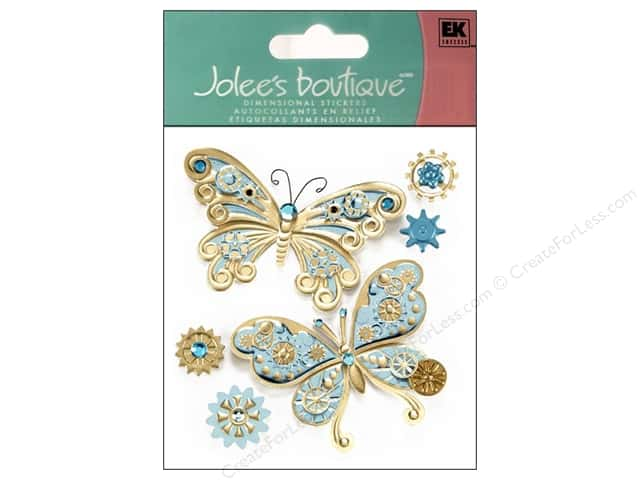Jolee's Boutique Stickers Steampunk Butterflies