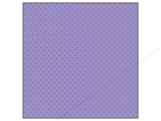 Doodlebug 12 x 12 in. Paper Sugar Coated Dot Lilac (25 sheets)