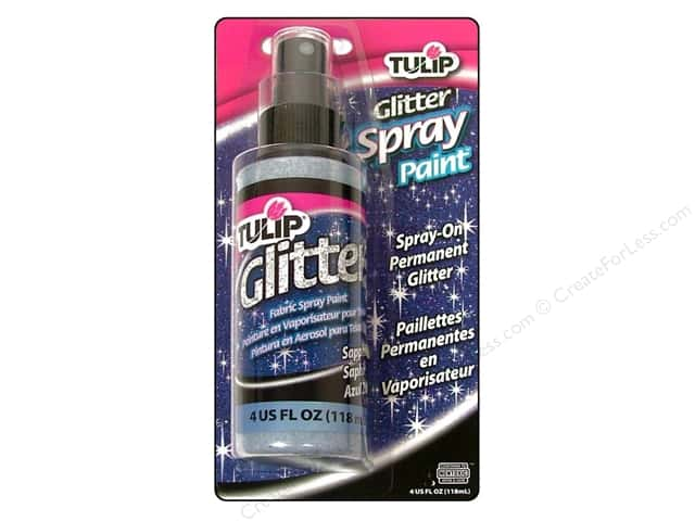 Tulip Glitter Fabric Spray Paint 4 oz. Sapphire