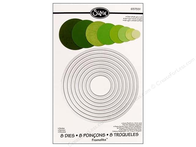Sizzix Framelits Die Set 8 pc. Circles