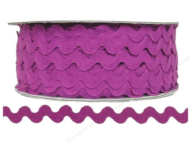 Cheep Trims Ric Rac 1/2 in. Magenta
