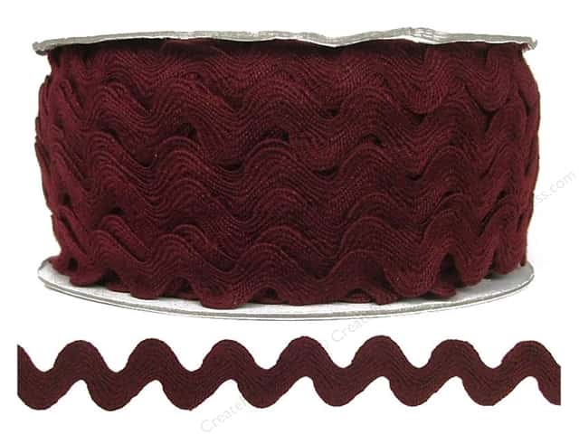Cheep Trims Ric Rac 11/16 in. Merlot