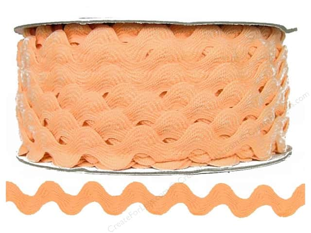 Ric Rac by Cheep Trims  11/16 in. Peach (24 yards)